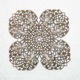 Flor Grande Bronce 4 petalos