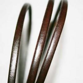Cuero plano marrón oscuro 5mm