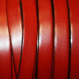 Cuero plano rojo 10mm