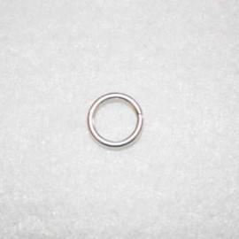 Anilla bañada en plata de 11mm
