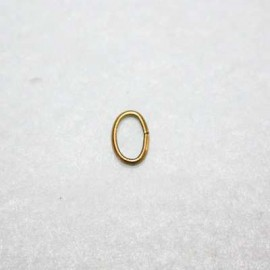 Anilla oval bronce 9x6.5mm