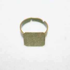 Anillo base cuadrada bronce