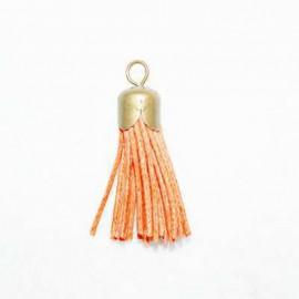 Borla naranja con casquillo bronce