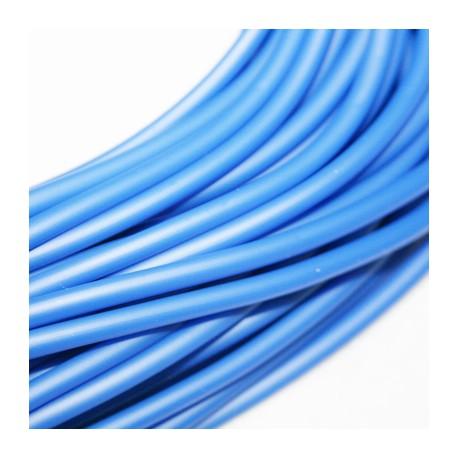 Caucho azul 4mm hueco
