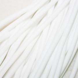 Caucho blanco 4mm hueco