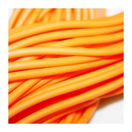 Caucho naranja 4mm hueco