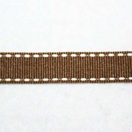 Pespunteada marrón