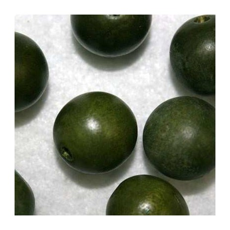 Bola madera verde 20mm