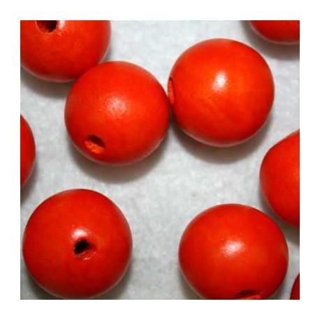 Bola madera naranja 20mm