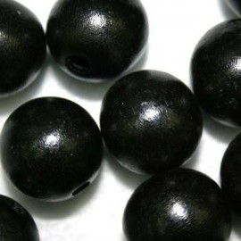 Bola madera negra 20mm