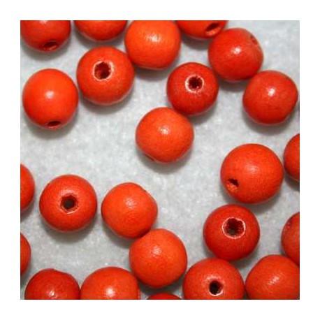 Bola madera naranja 10mm