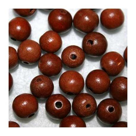 Bola madera marrón 10mm