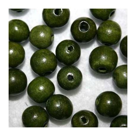 Bola madera verde 10mm