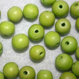 Bola madera verde manzana 10mm