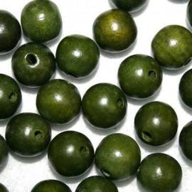Bola madera verde 15mm