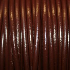 Cuero redondo 4mm marrón