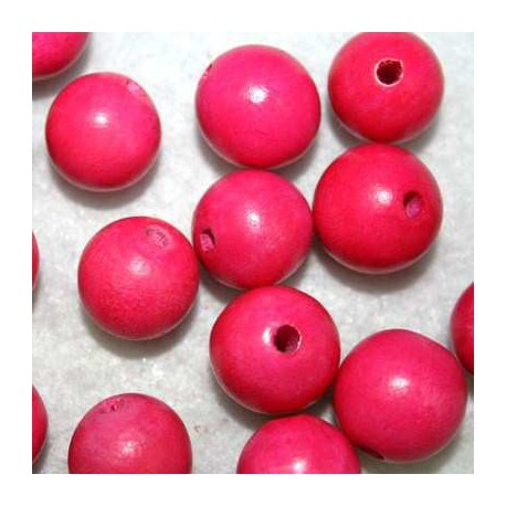 Bola madera rosa 15mm