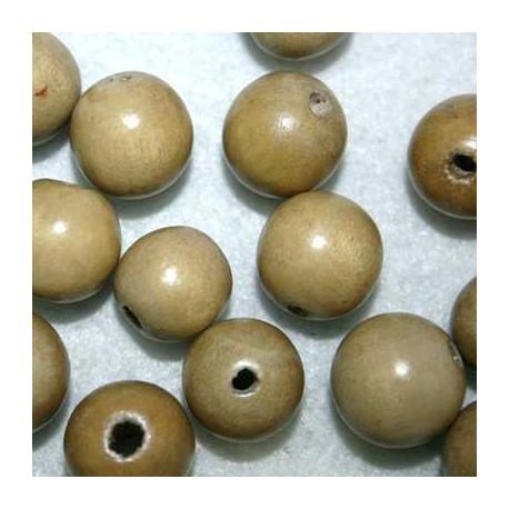 Bola madera beige 15mm