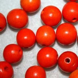 Bola madera naranja 15mm