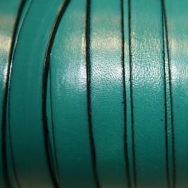 Cuero plano turquesa verdoso 10mm
