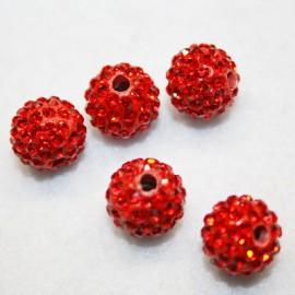Shamballa roja 12mm