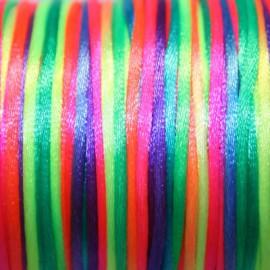 Cola de ratón multicolor fluor 2mm