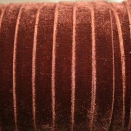 Terciopelo ELASTICO marrón