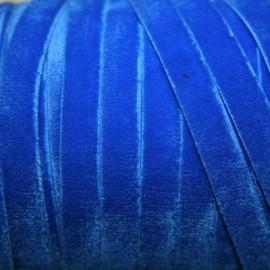 Terciopelo ELASTICO azul electrico
