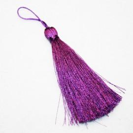 Pompón violeta largo
