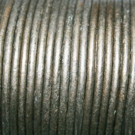 Cuero redondo 2,5mm metalizado