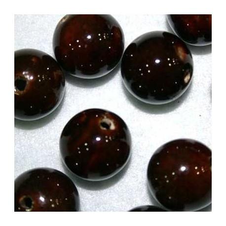 Bola de cerámica marrón 24mm