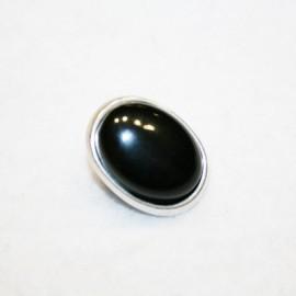 Cierre botón negro