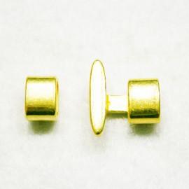 Cierre 2 partes dorado
