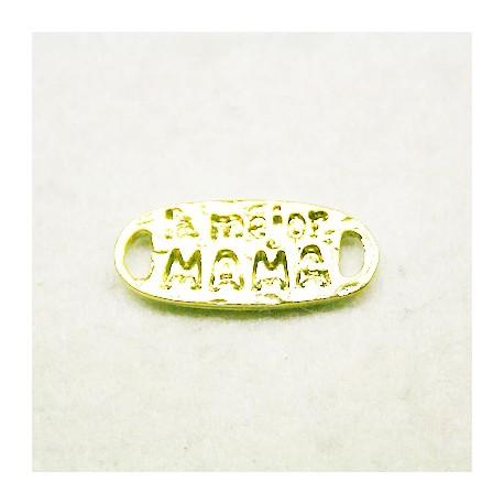 """Conector """"La mejor mamá"""" dorado"""