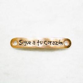 """Conector """"Sigue a tu corazón"""" oro rosa"""