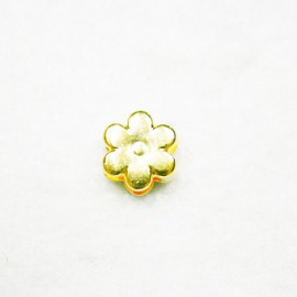 Flor 6 petalos dorada