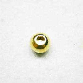 Cierre bola dorada p/cuero 4mm