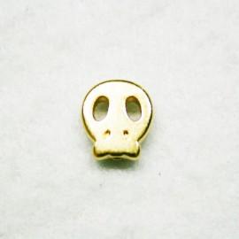 Calavera plana mini dorada