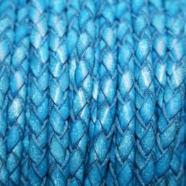 Trenzado 5mm azul x metro