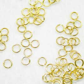 100 anillas de 5mm doradas