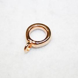 Paso con anilla p/9mm oro rosa