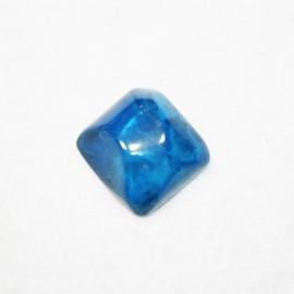 Resina cuadrada grande azul