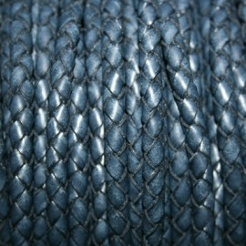 Trenzado 5mm azul marino x cm