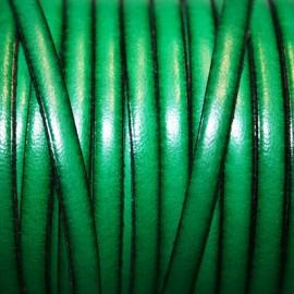 Cuero plano verde esmeralda 5mm