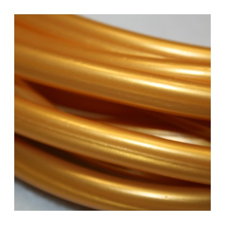 Caucho regaliz 10x7mm dorado
