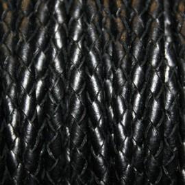 Trenzado 5mm negro x metro