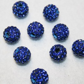 Shamballa azul 12mm