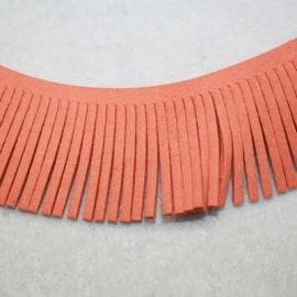 Cinta de antelina con flecos naranja
