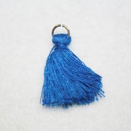 Pompon con anilla azul