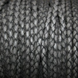 Trenzado 5mm gris x metro